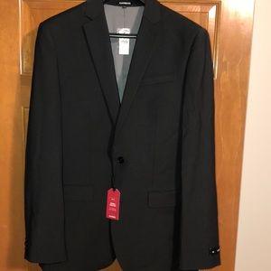 Men's classic wool-blend suit jacket 40L